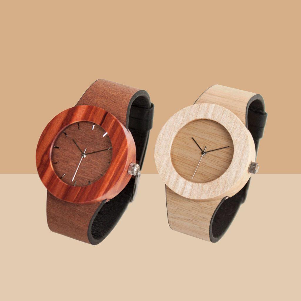 自然を感られる腕時計